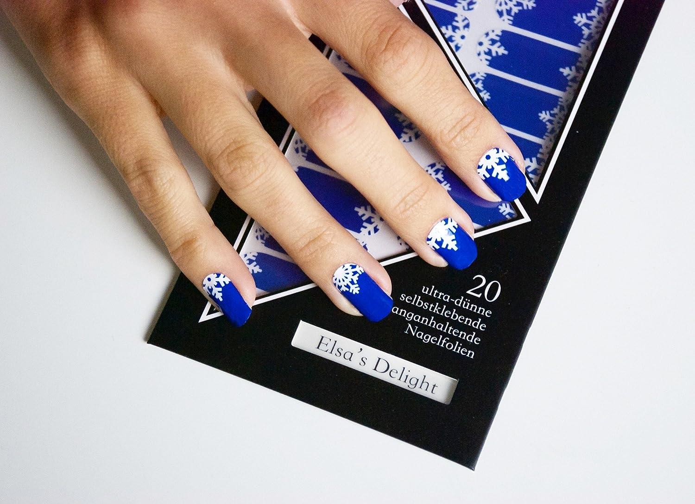 Miss Sophie\'s dunkel-blau weiß Nagel-Folien Elsa\'s Delight: Nagel ...
