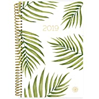"bloom daily planners 2019 Calendar Year Day Planner - Passion/Goal Organizer - Monthly and Weekly Dated Agenda Book - (January 2019 - December 2019) - 6"" x 8.25"" - Palm Leaves"
