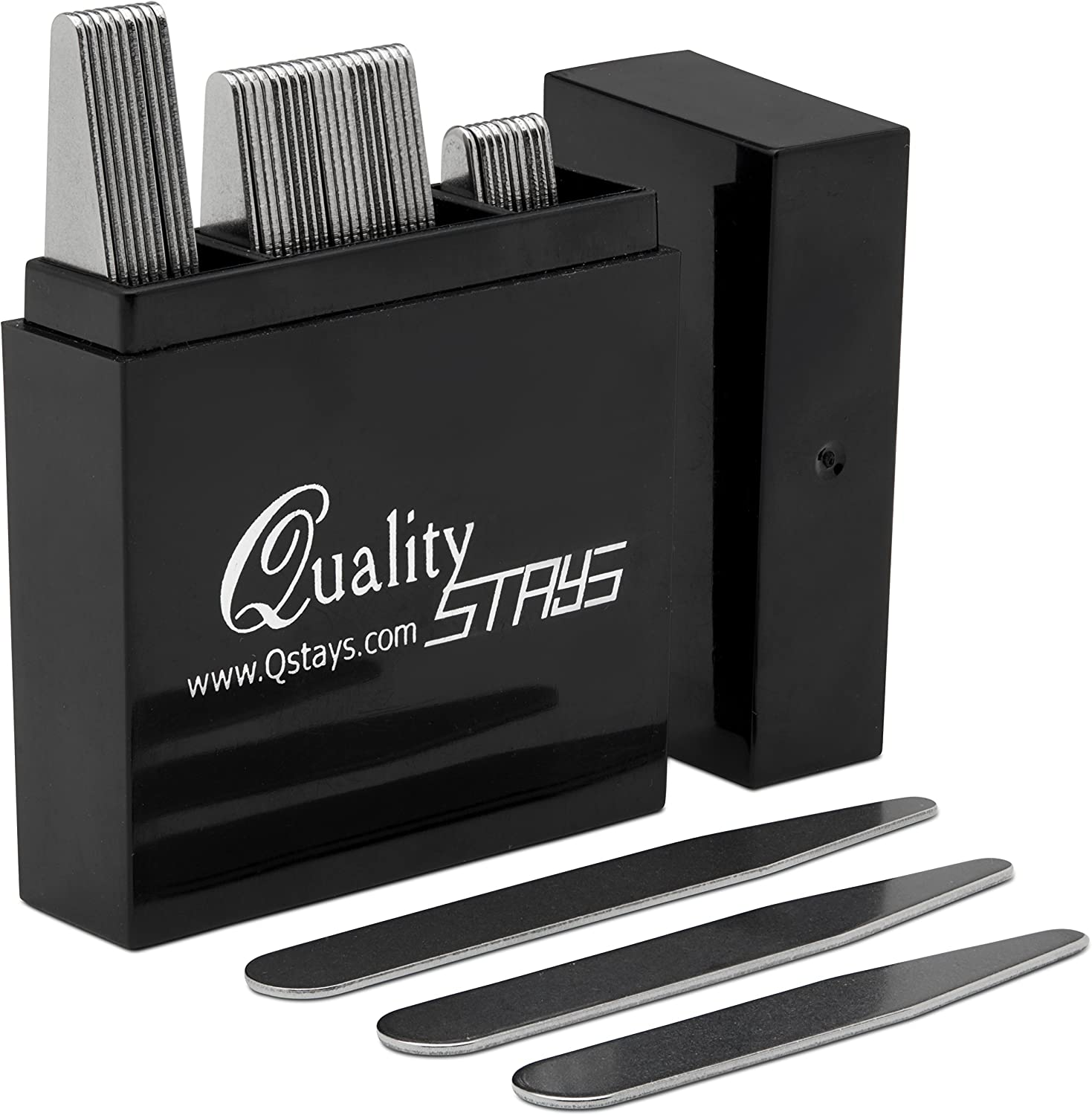 Amazon.com: Metal Collar Stays for Men – Set of 40 Dress Shirt Collar Stays  for Men, 3 Sizes in a Divided Box by Quality Stays: Clothing