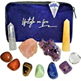 Lifestyle on Fire Healing Crystals & Chakra Stones Set - 11 Piece Set with Crystals and Healing Stones to Align Your…