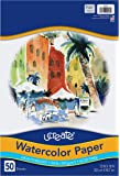 "UCreate Watercolor Paper, White, Package, 90lb, 12"" x 18"", 50 Sheets"