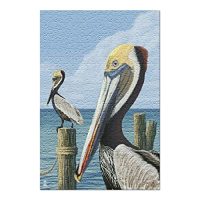 Brown Pelican (Premium 500 Piece Jigsaw Puzzle for Adults, 13x19, Made in USA!): Toys & Games