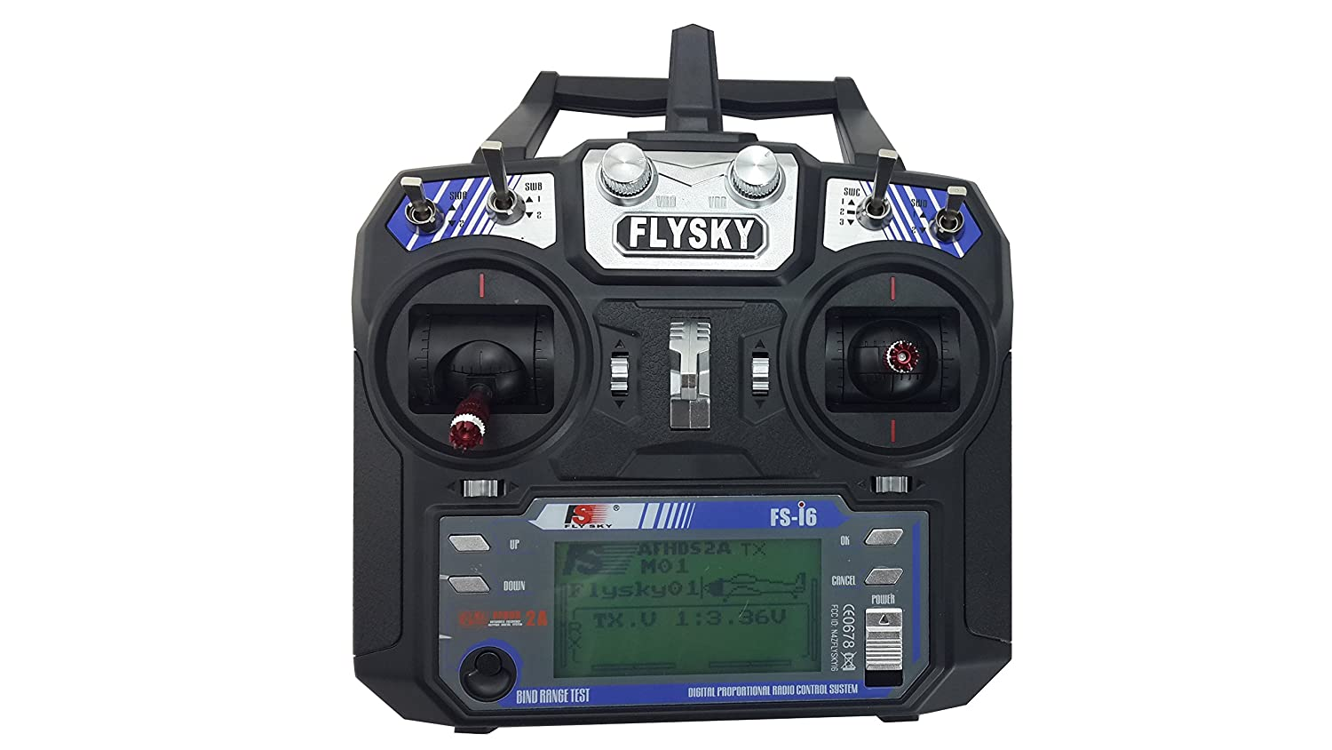 Fs Flysky I6 24g 6ch Transmitter And Receiver System Lcd Screen Remote Rc Gt3b 24ghz For Helicopter New Arrival Newest Version Toys Games