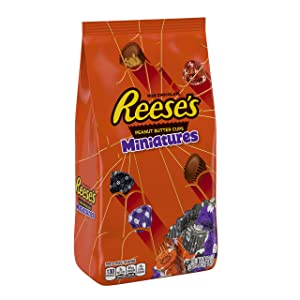 REESE'S Chocolate Peanut Butter Cup Miniatures, 36 Ounce bag, bulk candy