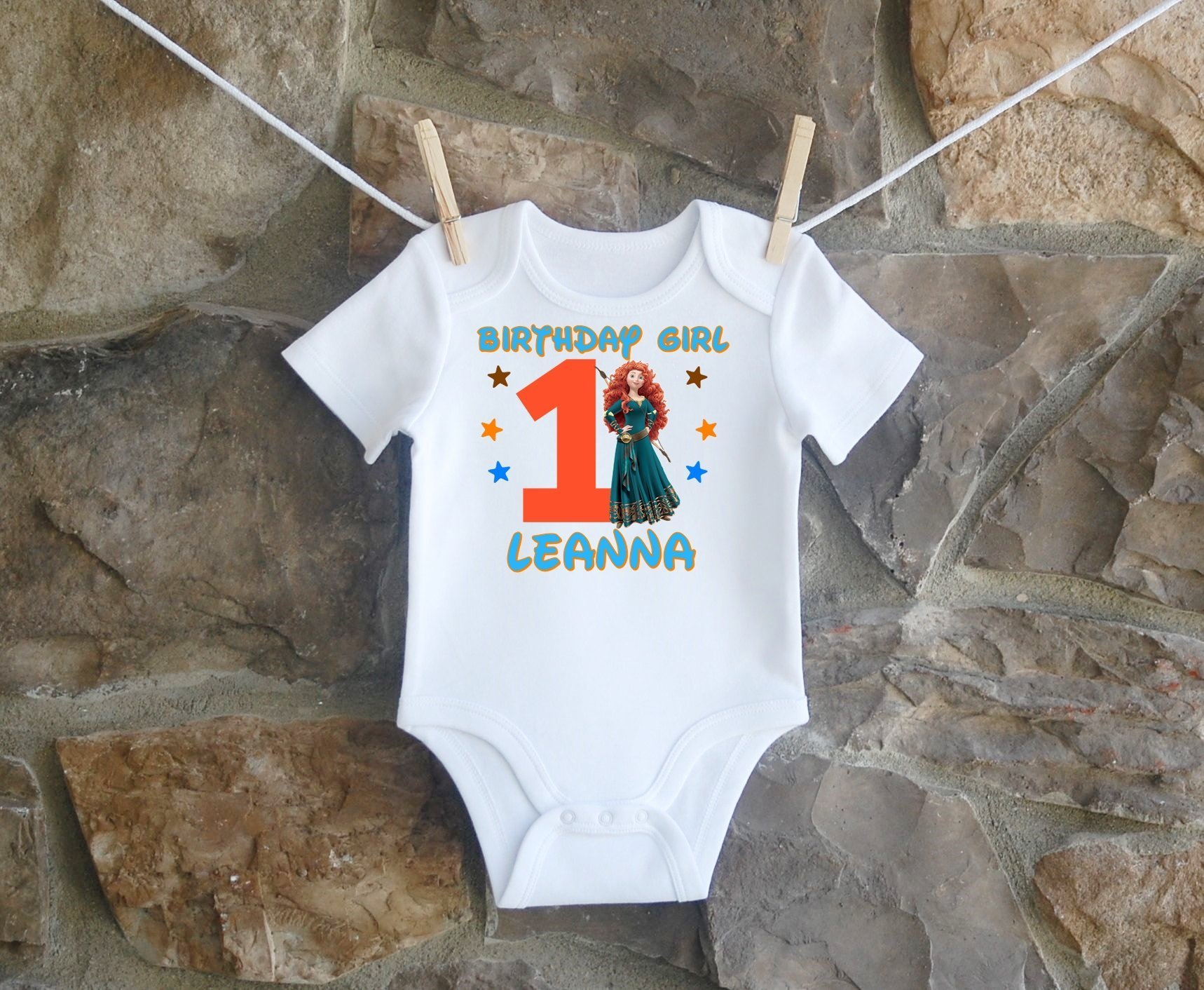 Merida Birthday Shirt, Merida Birthday Shirt For Girls, Personalized Girls Brave Merida Birthday Shirt, Customized Brave Merida Birthday Shirt