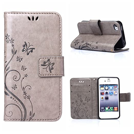 6 opinioni per MOONCASE iPhone 4S Custodia in pelle Protettiva Flip Cover per iPhone 4 4S Fiore