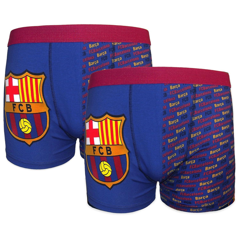 e18391d35d8a FC Barcelona - Pack de 2 calzoncillos oficiales de estilo bóxer - Para niños  - Con