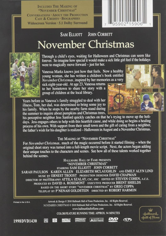 Amazon.com: November Christmas - Hallmark Hall of Fame: John Corbett ...