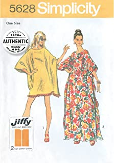 product image for Simplicity 1970's Vintage Fashion Women's Caftan Sewing Patterns, Sizes 8-40