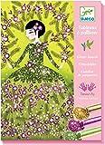 Djeco Colored Glitter Art Kit, Dresses