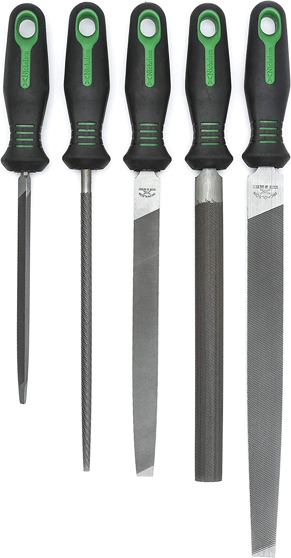 8 /& 10 Anniversary File Set with Ergonomic Handles 8 /& 10 Anniversary File Set with Ergonomic Handles Apex Tool Group Crescent Nicholson 22150HI 5 Pc 6