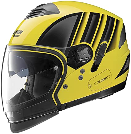 3996a876 Amazon.com: Nolan N43E Trilogy Voyage Helmet (Black/Yellow, X-Large):  Automotive