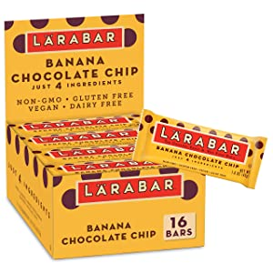 Larabar Fruit and Nut Bar Banana Chocolate Chip, Gluten Free, Vegan, 16 ct