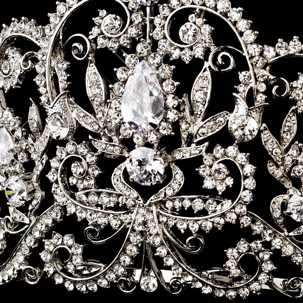 Abbey Antique Rhinestone Royal Princess Pageant, Quinceanera, Sweet 16, Wedding Bridal Tiara by Fairytale Bridal Tiara (Image #2)