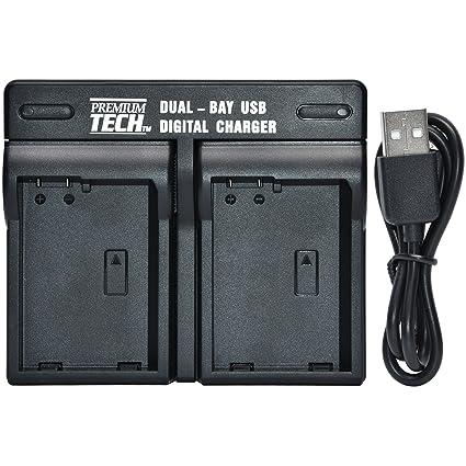 Amazon com : Premium Tech LP-E6/N Dual Bay USB Battery