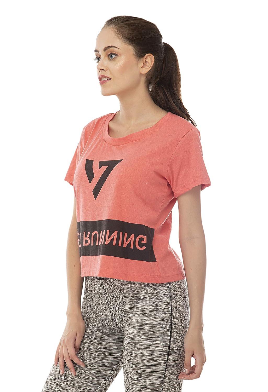 Seven by M.S. Dhoni Women's Regular Fit T-Shirt