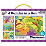 Galt 4 Puzzles In A Box - Dinosaurs (72 Piece)