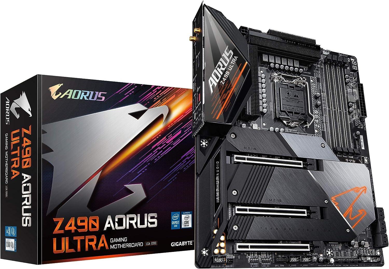 GIGABYTE Z490 AORUS Ultra (Intel LGA1200/Z490/ATX/Intel 2.5G LAN/3xM.2 Thermal Guard/SATA 6Gb/s/USB 3.2 Gen 2/Intel Wi-Fi 6//Realtek ALC1220-VB/RGB Fusion/Gaming Motherboard)