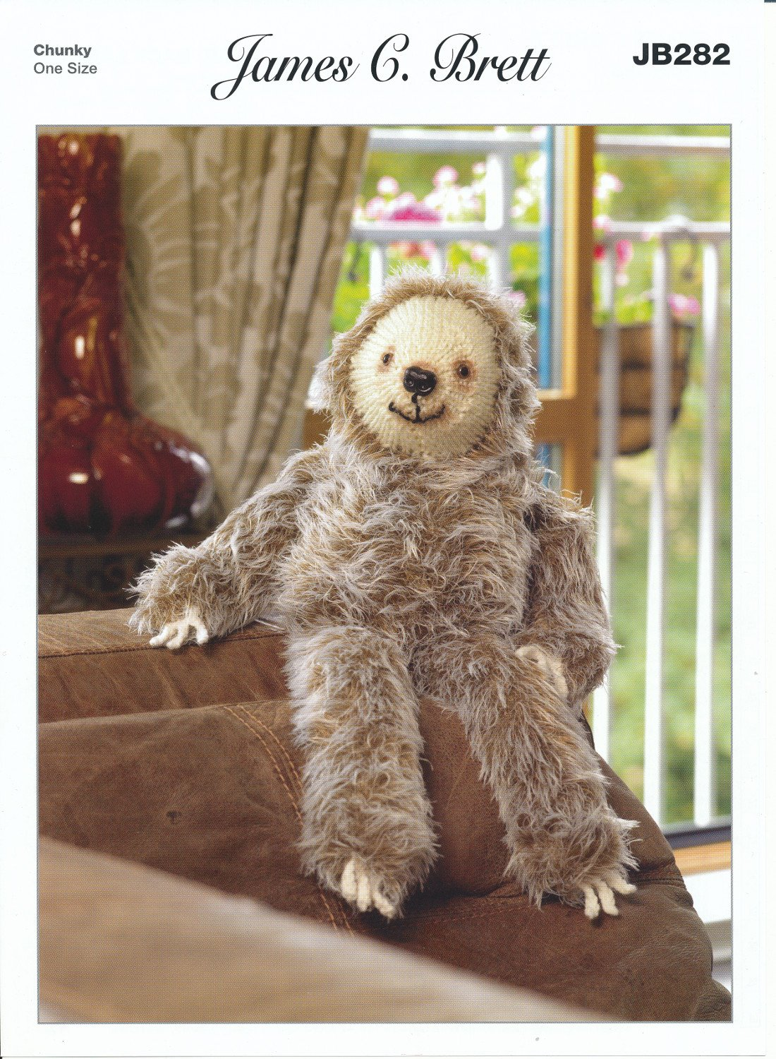 Larry Sloth Toy in Faux Fur Yarn