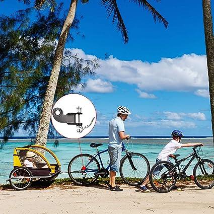 WELLXUNK Acoplador de Enganche de Remolque para Bicicleta y Remolque, de Acero, Conector de Repuesto para polea de ...