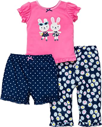 NWT CARTER/'S Girl/'s 3pc Summer Poly Knit PJ set Size 18 Months Green//Pink Frogs