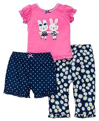 367ac252f742 Amazon.com  Little Me Girls  3 Piece Set Pajama  Clothing