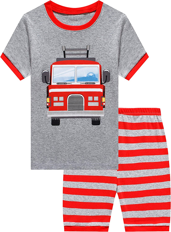 Family Feeling Little Big Boys Summer Pajamas Short 100/% Cotton Kids Pjs Sets