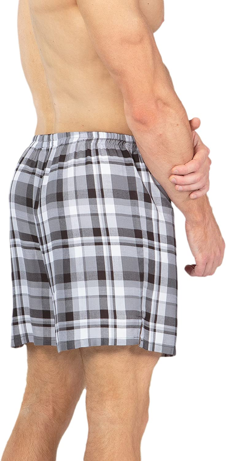 Mens Plaid Boxer Shorts Underwear Bamboo Viscose Boxers by Texere Dionysus