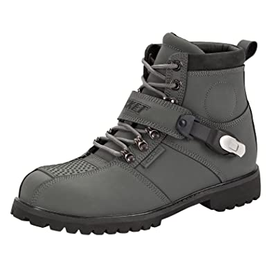 Joe Rocket 1287-0607 Big Bang 2.0 Men's Motorcycle Riding Boots (Grey, Size 7): Automotive