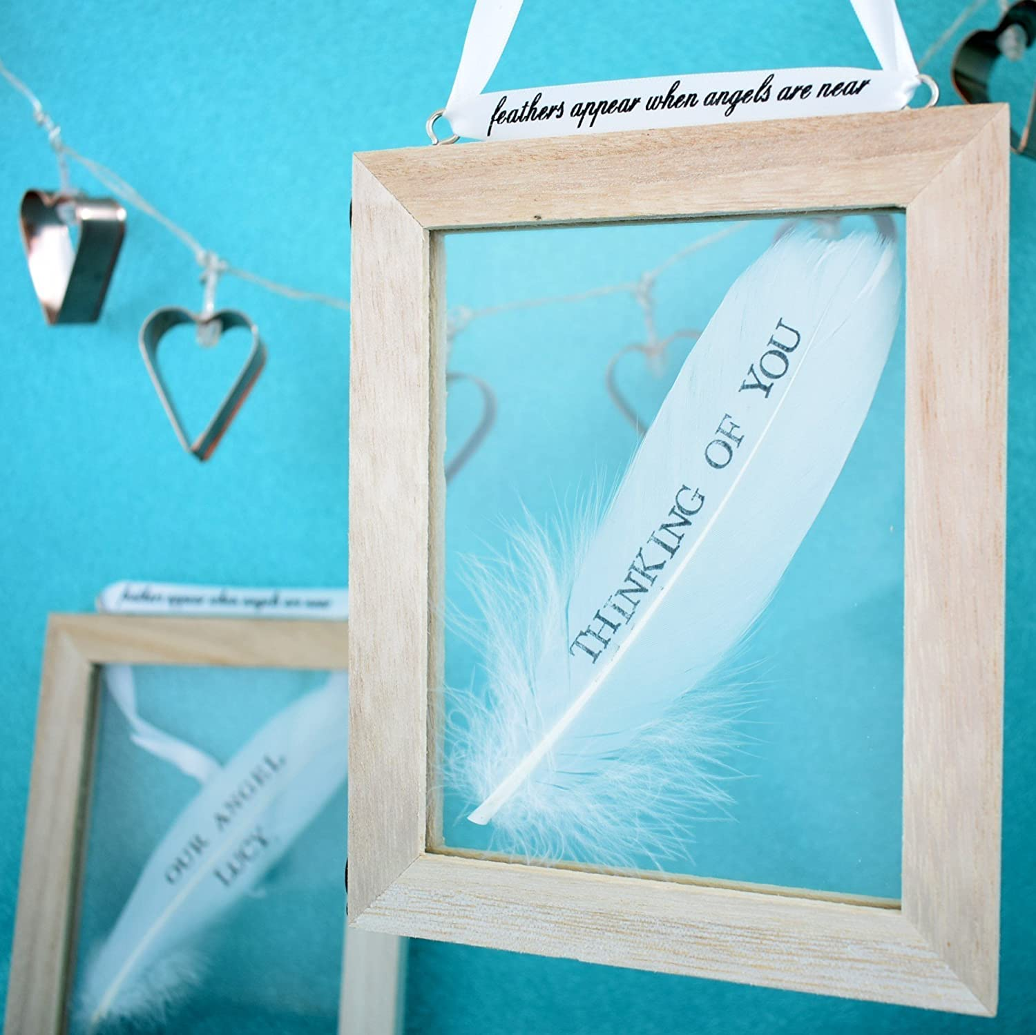 personalised feather memory frame memorial angel sympathy gift condolence memento name date message amazoncouk handmade