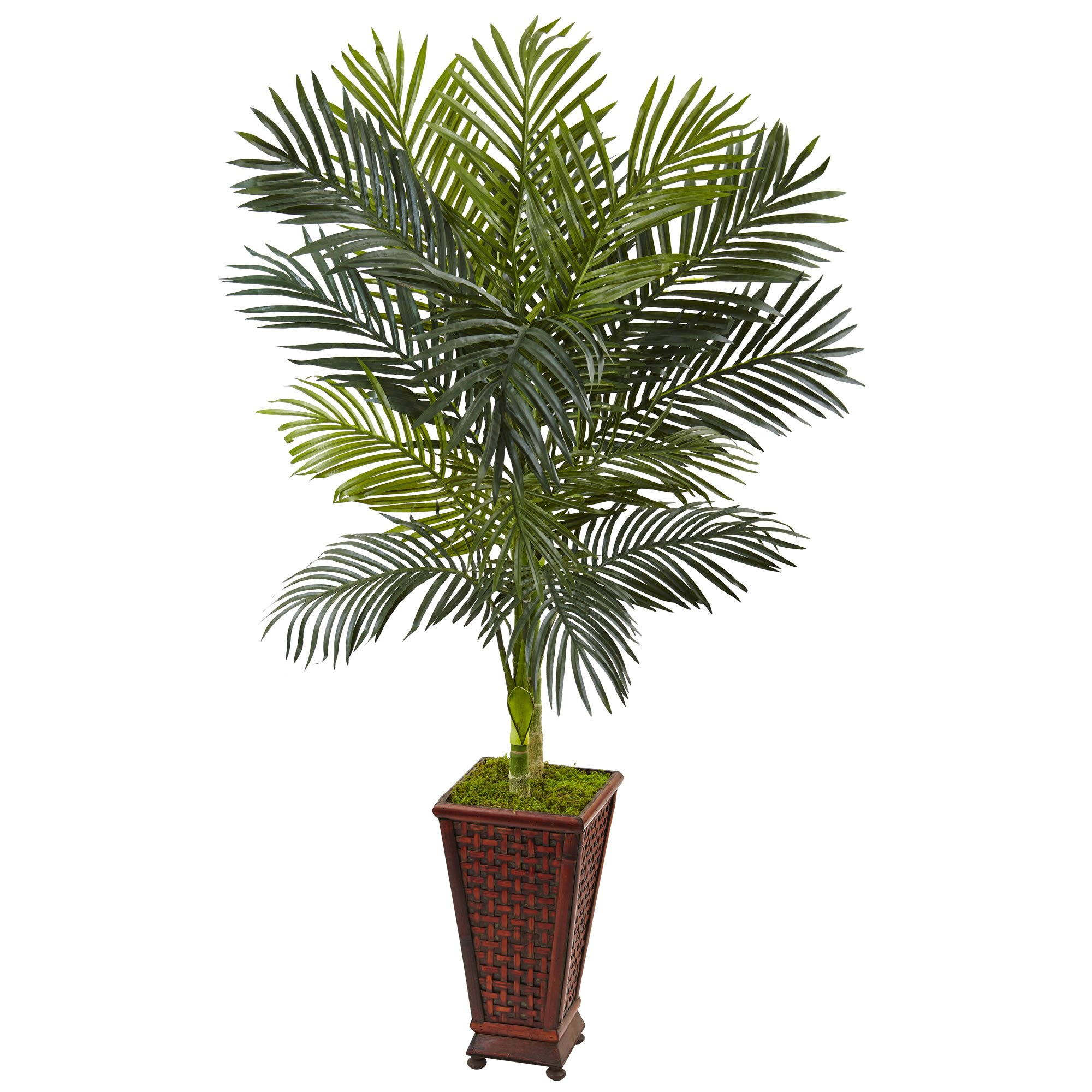 Nearly Natural 5' Golden Cane Palm Artificial Tree, Green