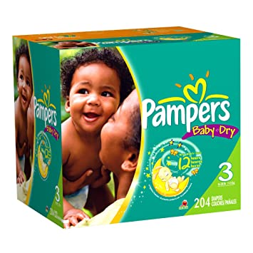 Amazon.com: Pampers Baby Dry Diapers Economy Plus Pack, Size 3 ...