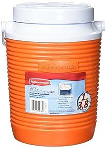 Rubbermaid Victory Jug, 1 Gallon, Orange FG15600611
