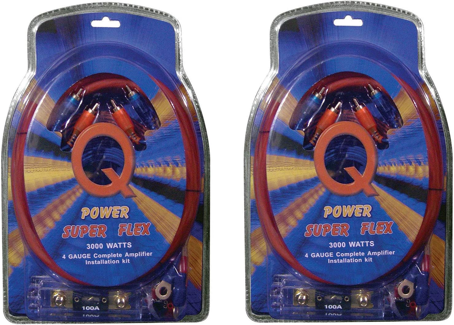 Perfect for Car//Truck//Motorcycle//Rv//ATV Complete 3000W Gravity 4 Gauge Amplifier Installation Wiring Kit Amp Pk2 4 Ga Blue for Installer and DIY Hobbyist