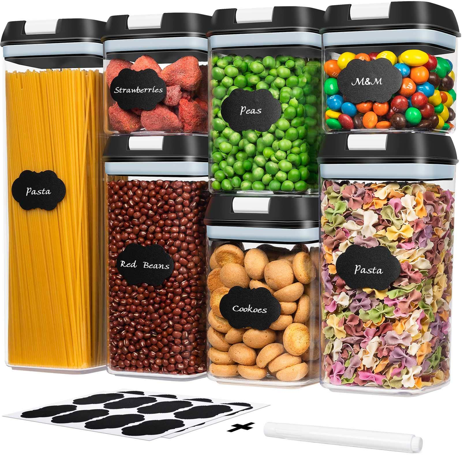 Kitchen Pantry Organization and Storage Set Food Storage Container Set for Cereal