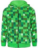 (マインクラフト) Minecraft オフィシャル商品 キッズ・子供用 フルジップ パーカー フーディー 男の子