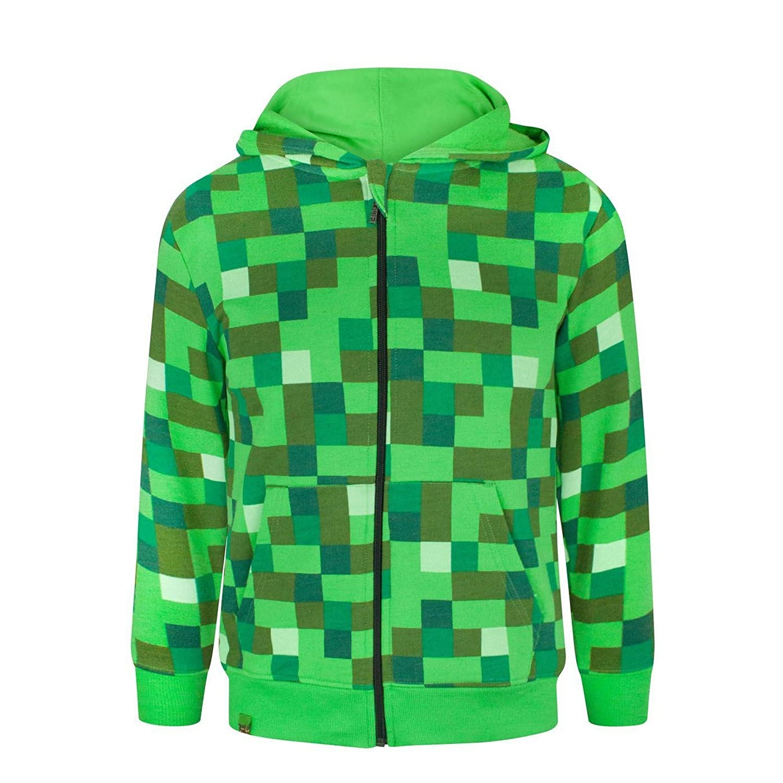 Minecraft Creeper Boy's Hoodie Fashion UK