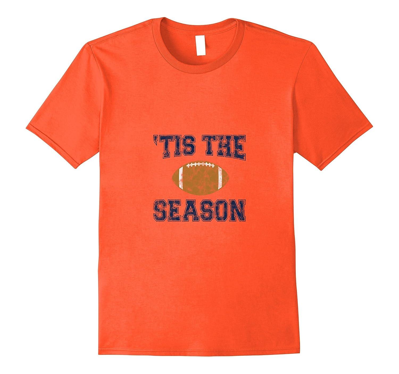 'Tis The Season (Blue) - Football T-Shirt-TH