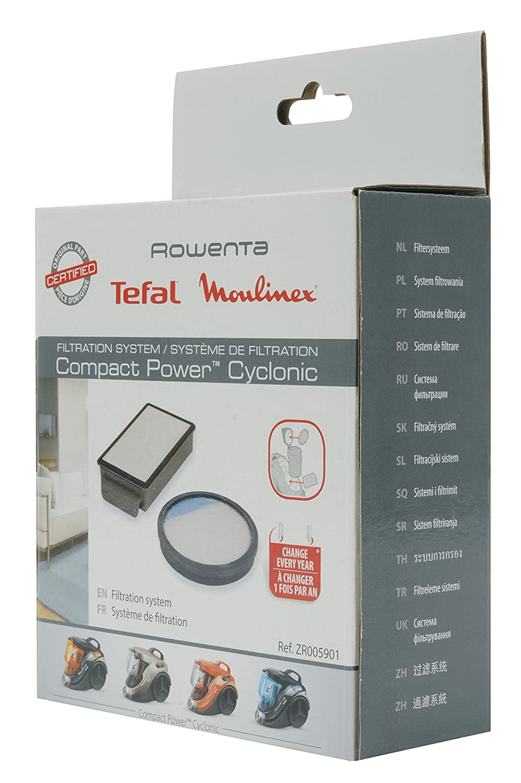 compatibile per i modelli Compact Power Cyclonic Sistema di filtraggio Rowenta Tefal Moulinex