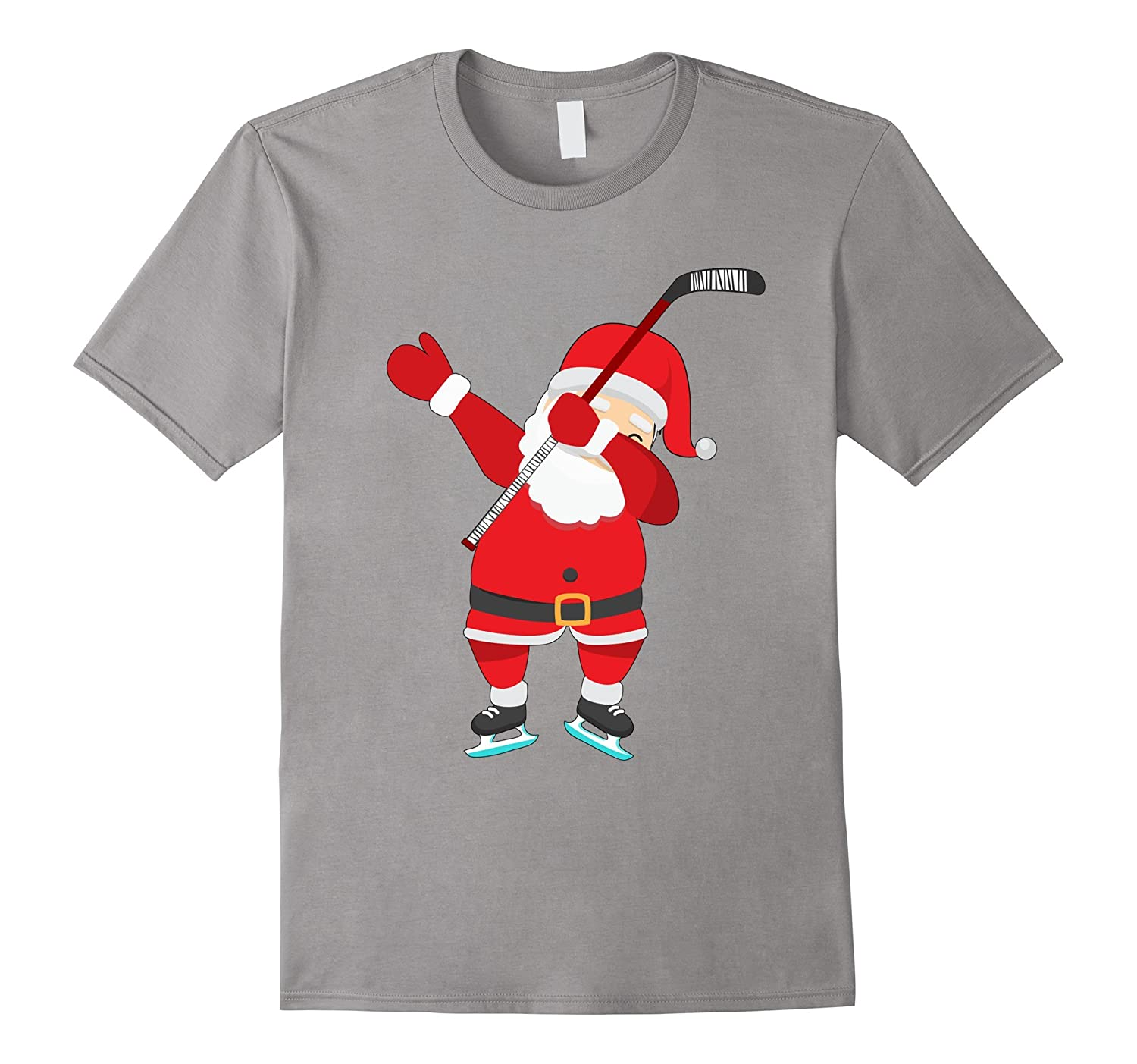 Dabbing Hockey Christmas Shirt - Santa Claus Dab T-Shirt-FL