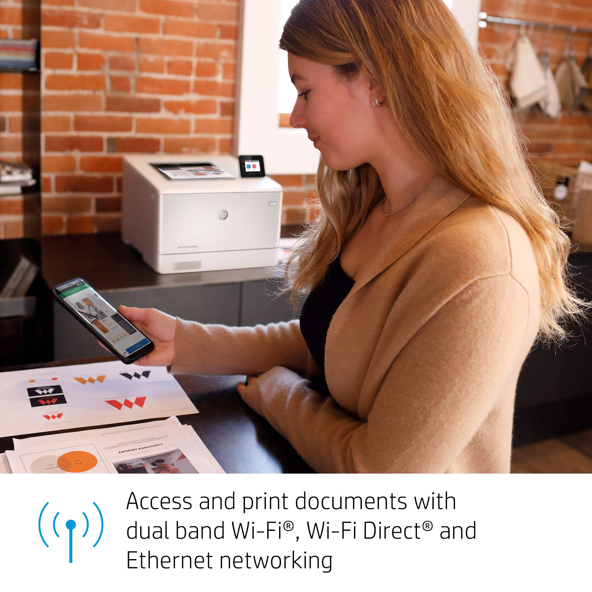 HP Color LaserJet Pro M454dw Printer (W1Y45A) by HP (Image #7)
