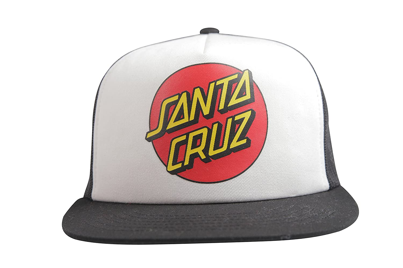 Santa Cruz Cap Classic Dot Mesh Gorra de béisbol, Unisex, Blanco ...