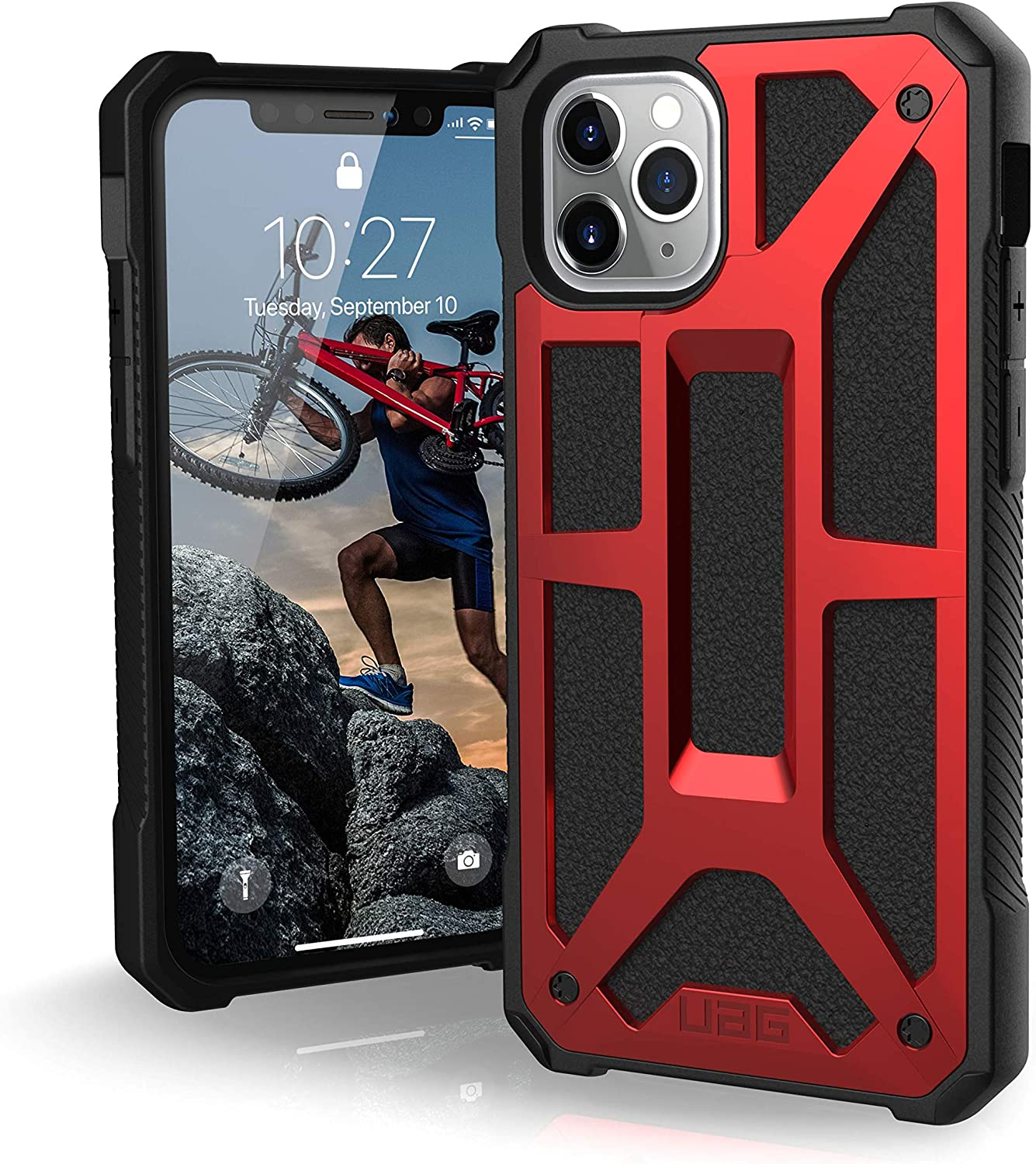 UAG Designed for iPhone 11 Pro [5.8-inch Screen] Monarch Feather-Light Rugged [Crimson] Military Drop Tested iPhone Case