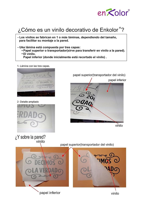 Enkolor/Vinilos Decorativos Frases Normas casa/Pegatinas pared/Negro/35X60cm.: Amazon.es: Hogar