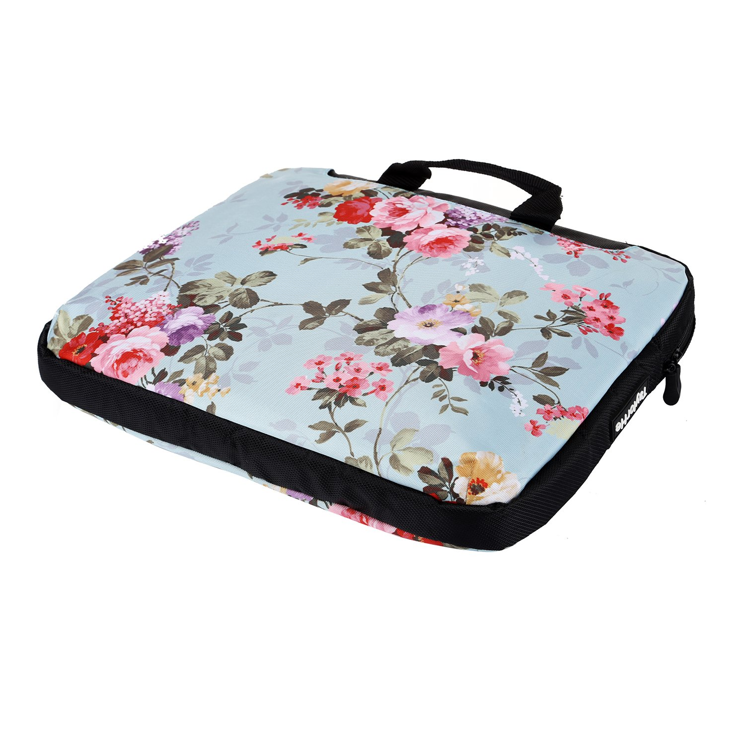 Side Pockets Handles and Detachable Strap Pink Butterflies TaylorHe 15.6 inch 15 inch 16 inch Hard Wearing Nylon Laptop Carry Case Colourful Laptop Shoulder Bag with Patterns