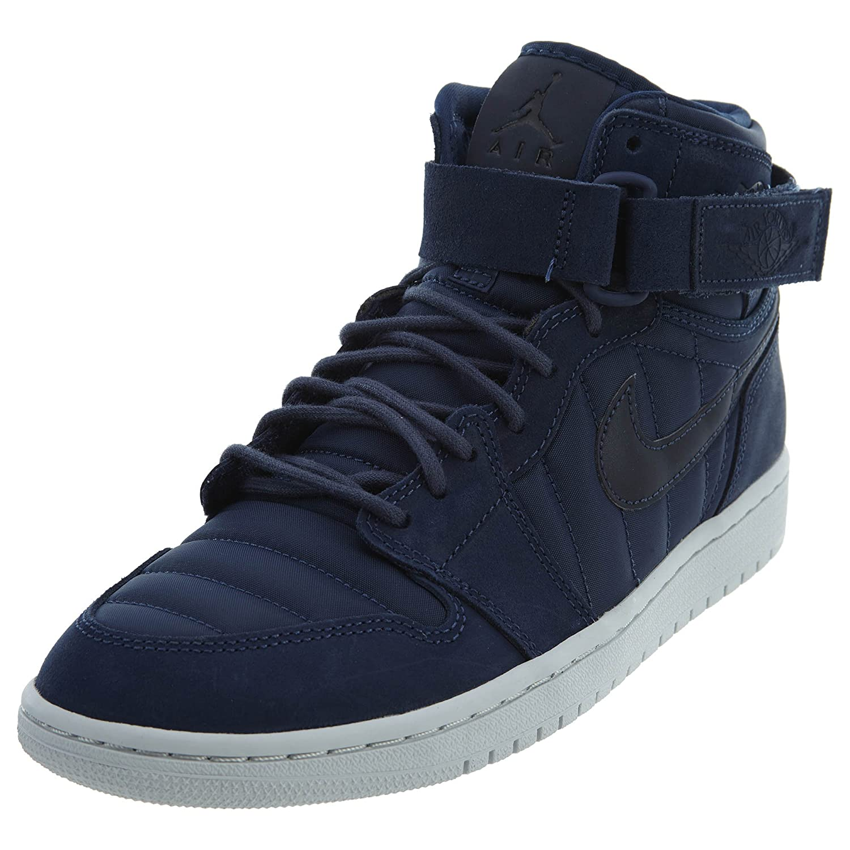 new styles f327b e7871 Amazon.com   Nike Mens Air Jordan 1 High Strap Midnight Navy Neoprene Size  13   Fashion Sneakers