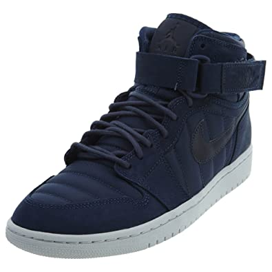 89801e703e2bec Nike Mens Air Jordan 1 High Strap Midnight Navy Neoprene Size 13