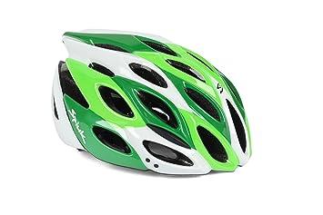 Spiuk Zirion - Casco de ciclismo, color verde/blanco, talla 53-61
