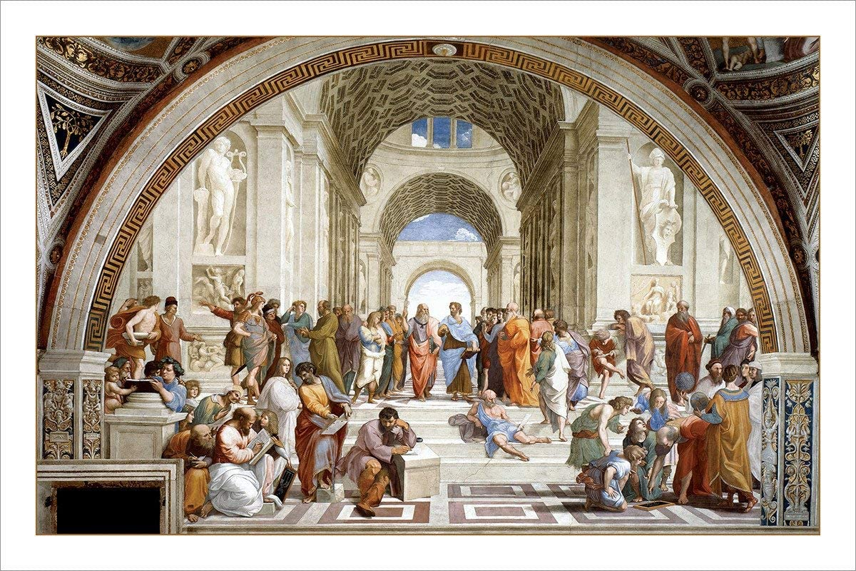 RAPHAEL ~ SCHOOL OF ATHENS ~ 24x36 FINE ART POSTER NEW//ROLLED!