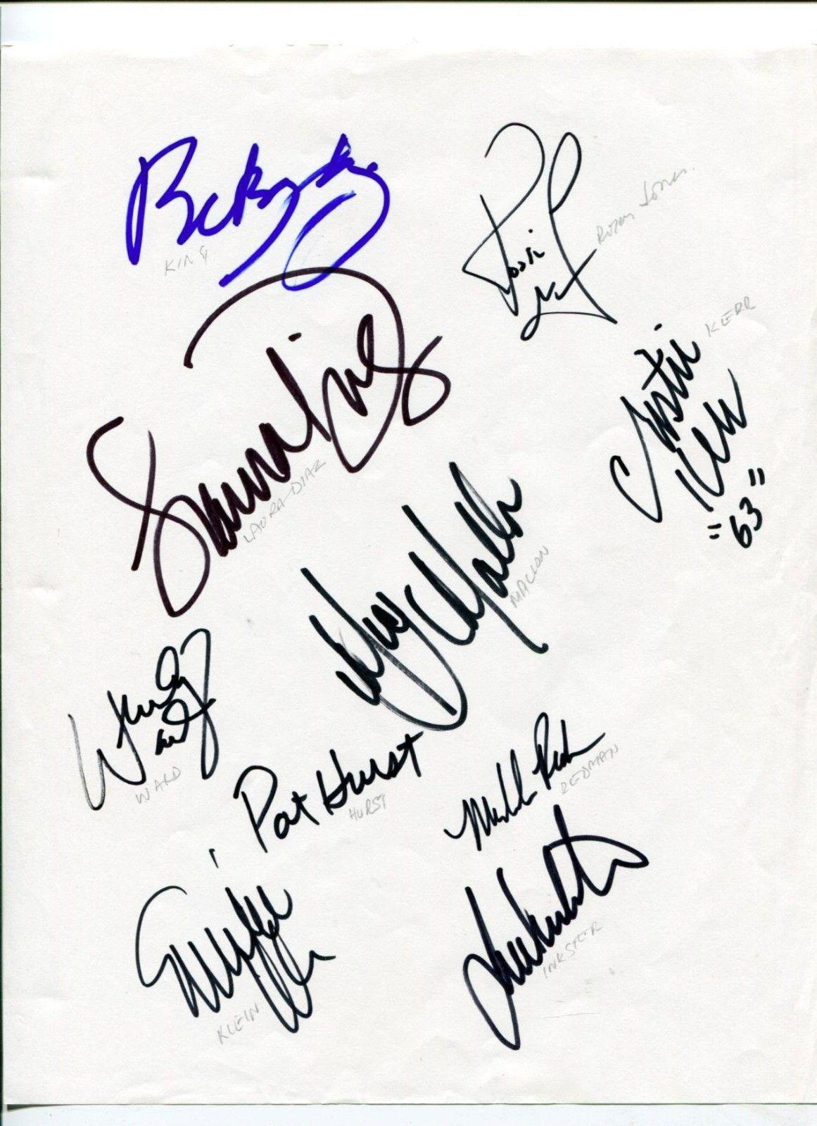 2002 US Solheim Cup Team Rare Golfer Golf Signed Autograph Golf Cut Signatures